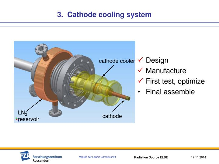 3.  Cathode cooling system