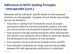 adherence to nstic guiding principles interoperable cont
