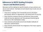 adherence to nstic guiding principles secure and resilient cont