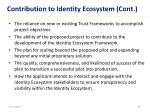 contribution to identity ecosystem cont