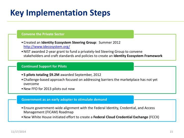 Key Implementation Steps