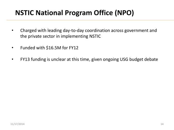 NSTIC National Program Office (NPO)