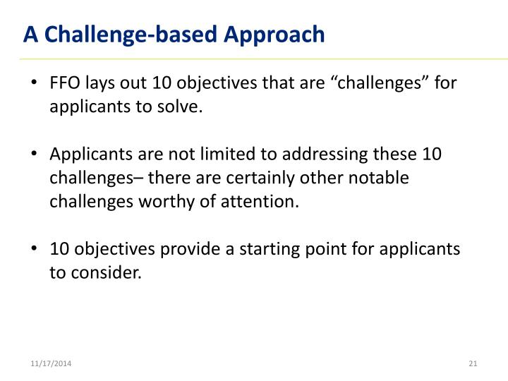 A Challenge-based Approach