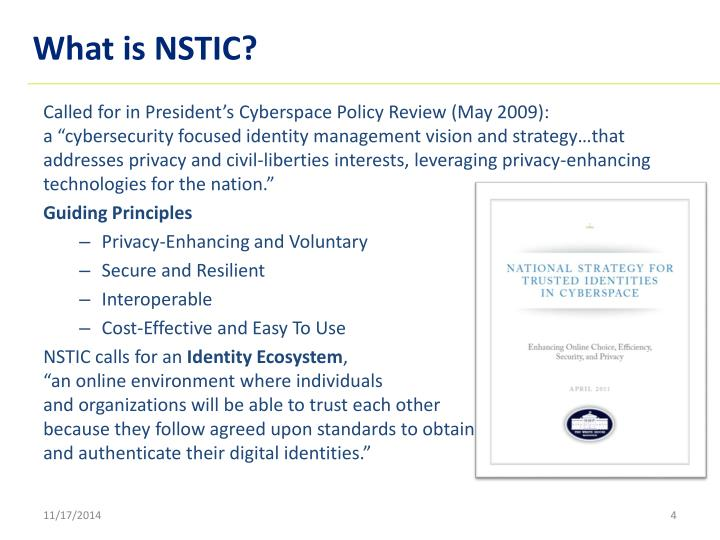 What is NSTIC?