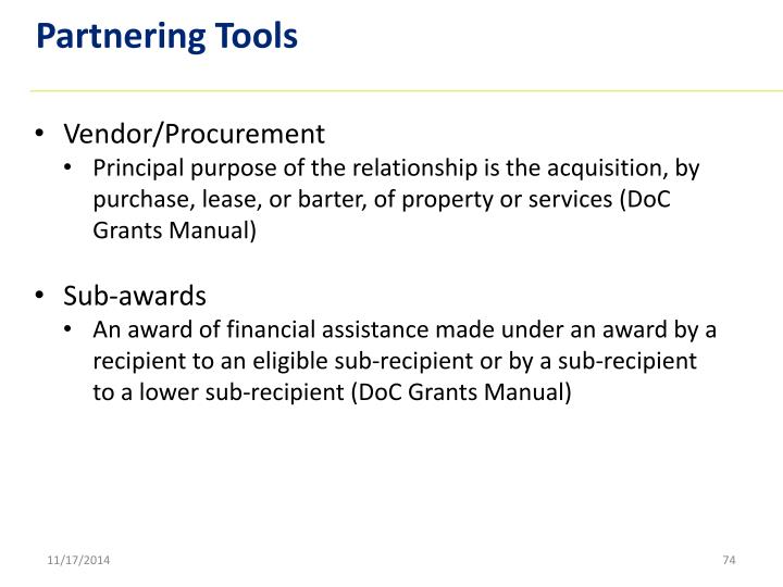 Partnering Tools