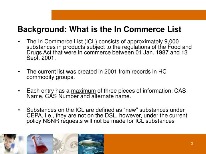 Background what is the in commerce list