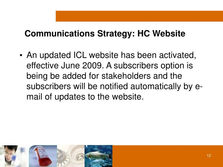 Communications Strategy: HC Website