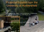 financial support from the university of huddersfield