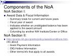 components of the noa