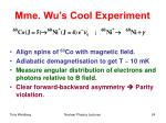 mme wu s cool experiment