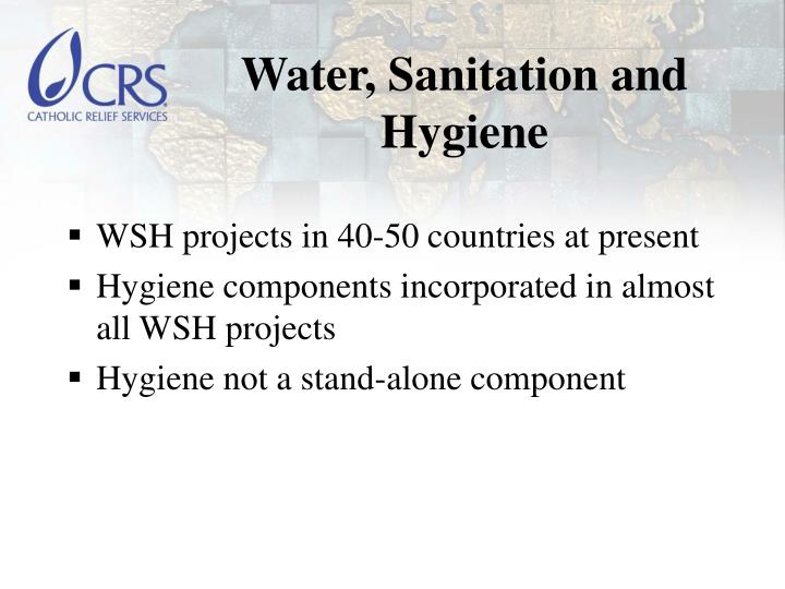Water sanitation and hygiene