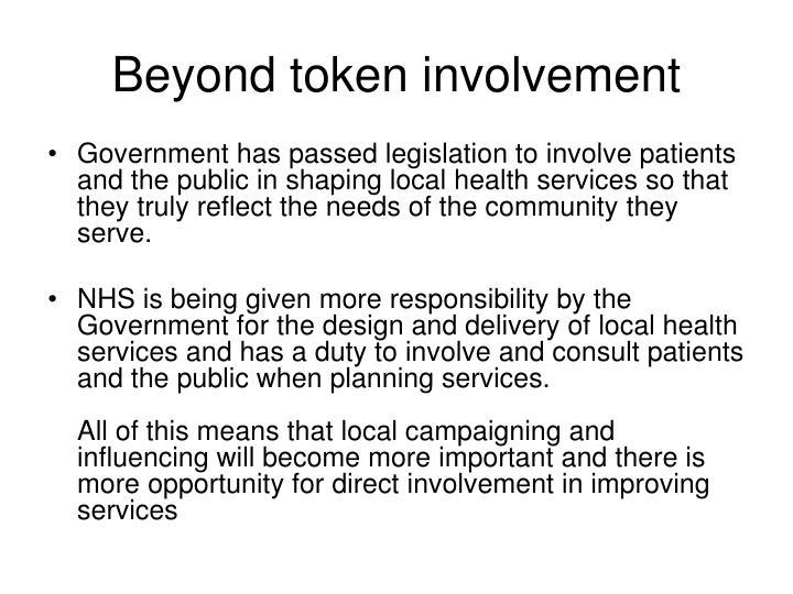 Beyond token involvement