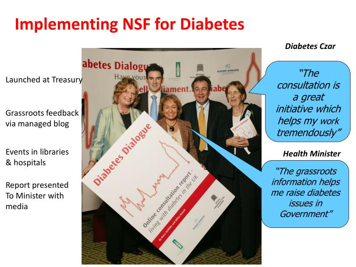Implementing NSF for Diabetes