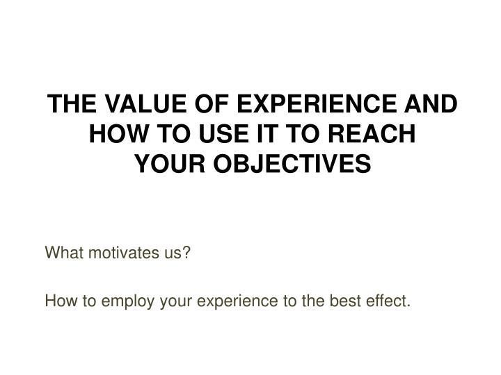 What motivates us?