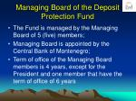 managing board of the deposit protection fund
