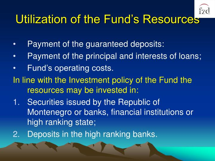 Utilization of the Fund's Resources