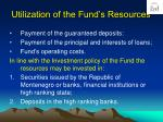 utilization of the fund s resources