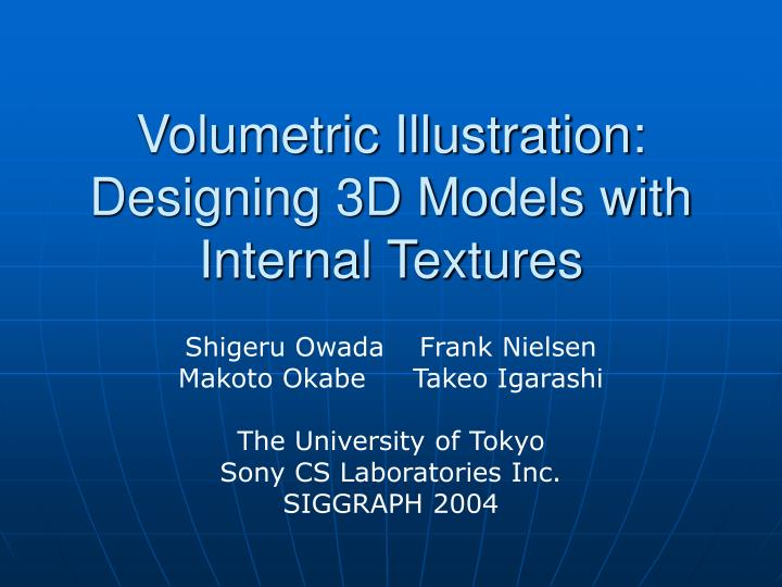 Volumetric illustration designing 3d models with internal textures