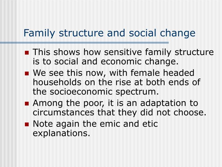 Family structure and social change