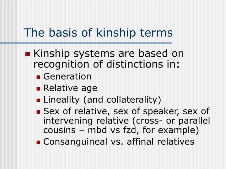 The basis of kinship terms