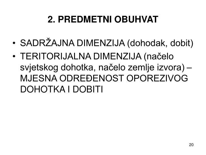 2. PREDMETNI OBUHVAT