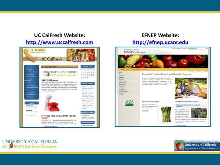 UC CalFresh Website: