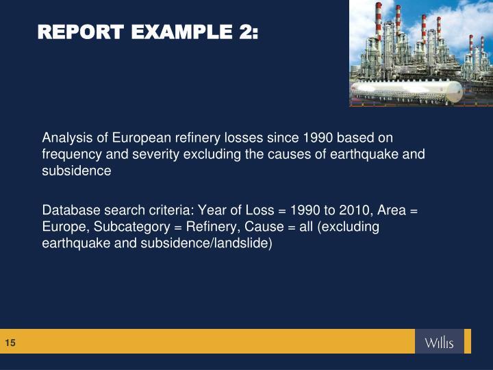 REPORT EXAMPLE 2: