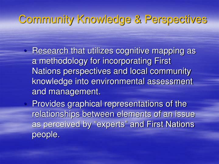 Community Knowledge & Perspectives