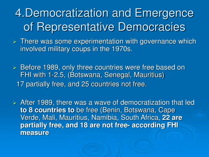 4.Democratization and Emergence of Representative Democracies