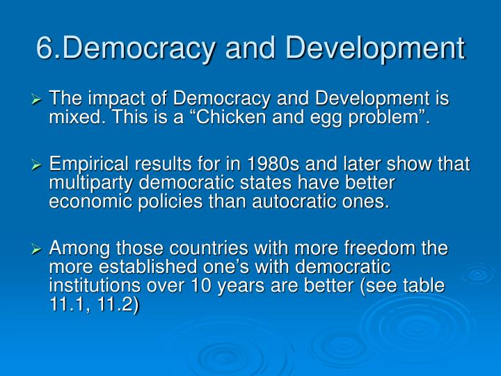6.Democracy and Development