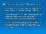 6 democracy and development
