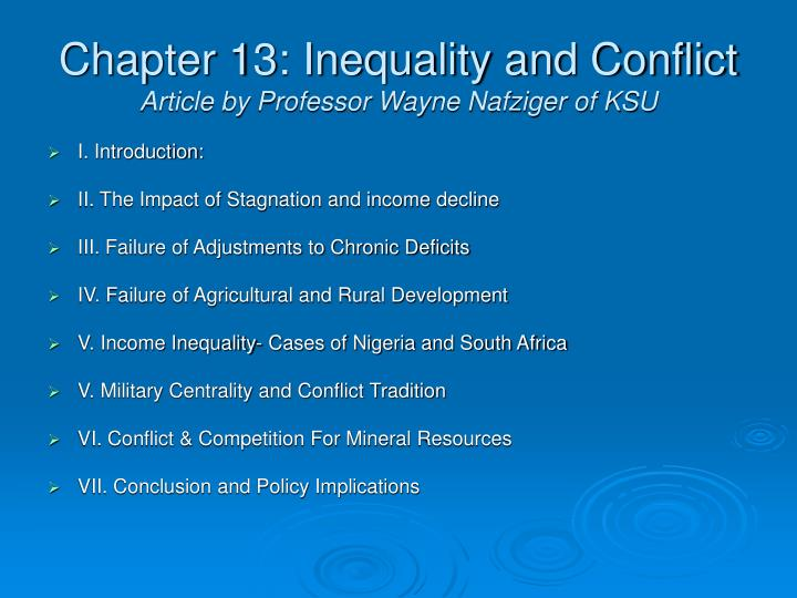 Chapter 13: Inequality and Conflict
