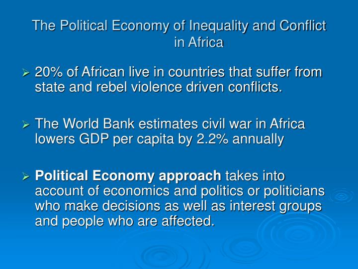The Political Economy of Inequality and Conflict