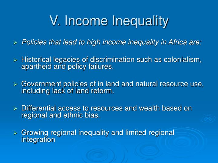 V. Income Inequality