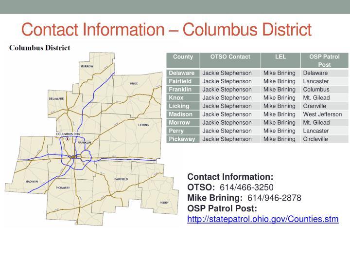 Contact Information – Columbus District