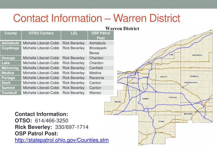 Contact Information – Warren District