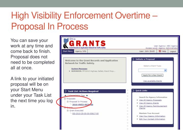 High Visibility Enforcement Overtime – Proposal In Process