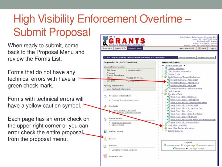 High Visibility Enforcement Overtime – Submit Proposal