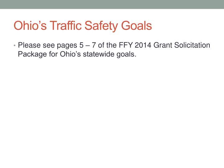Ohio's Traffic Safety Goals