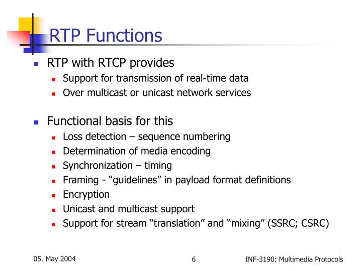 RTP Functions