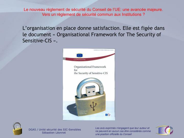 Le nouveau règlement de sécurité du Conseil de l'UE: une avancée majeure.