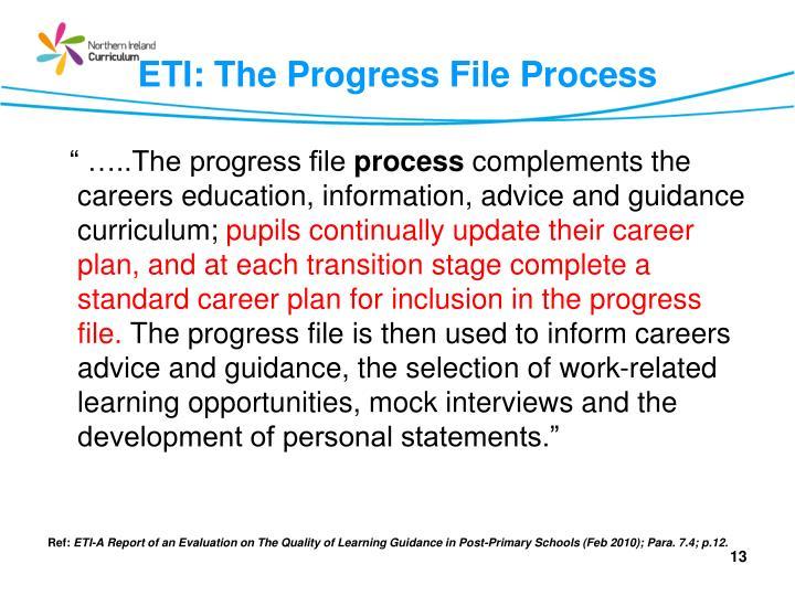 ETI: The Progress File Process