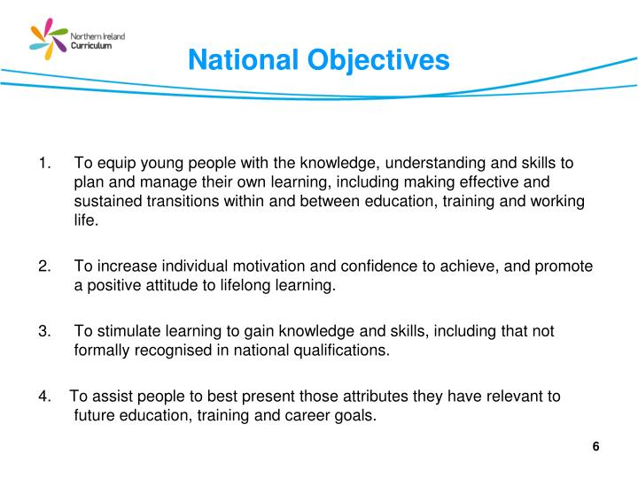 National Objectives
