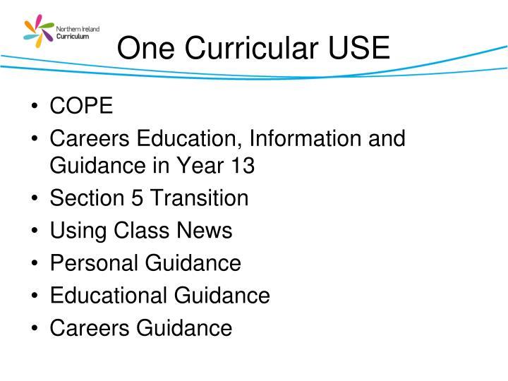 One Curricular USE