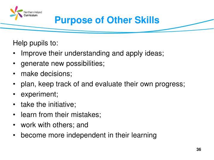 Purpose of Other Skills