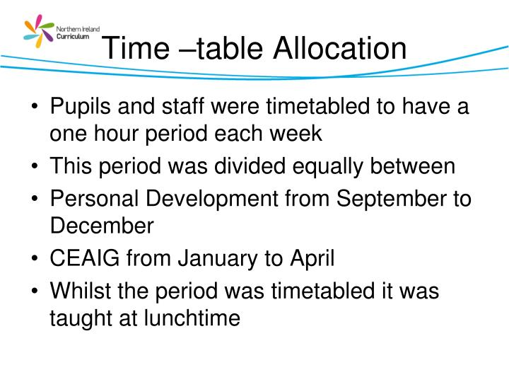 Time –table Allocation