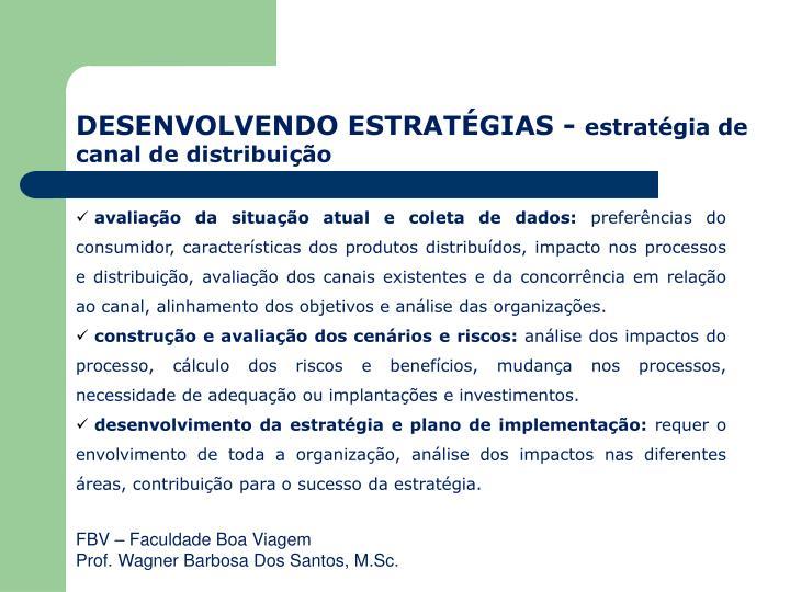 DESENVOLVENDO ESTRATÉGIAS -