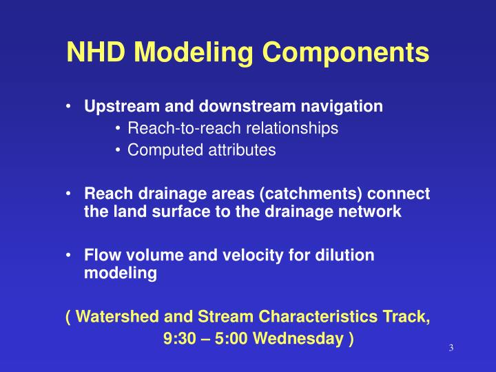 NHD Modeling Components