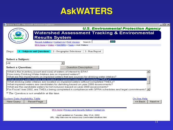 AskWATERS