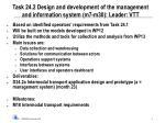 task 24 2 design and development of the management and information system m7 m30 leader vtt
